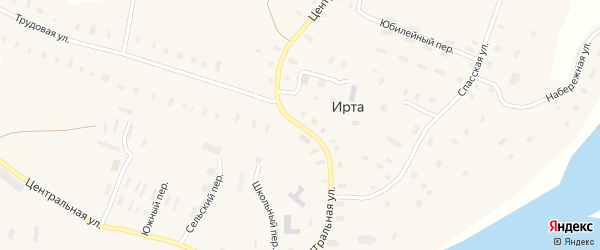 Центральная улица на карте деревни Сафроновки с номерами домов