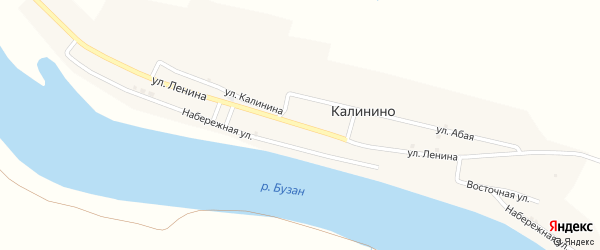 Улица Ленина на карте Володарского поселка с номерами домов