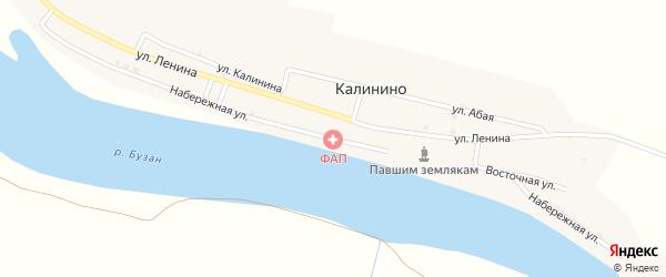 Набережная улица на карте села Калинино с номерами домов