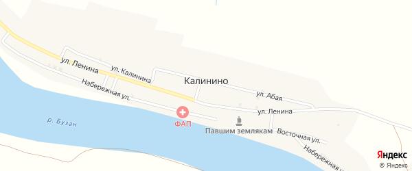 Молодежная улица на карте села Калинино с номерами домов