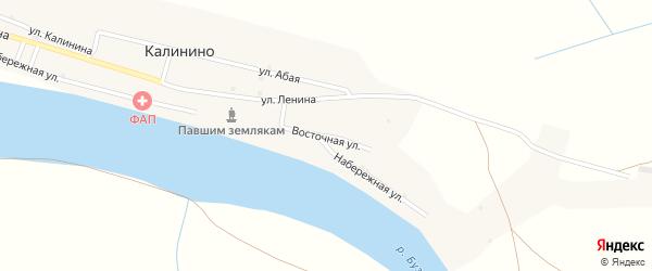 Восточная улица на карте села Калинино с номерами домов