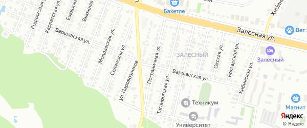 Пограничная улица на карте Казани с номерами домов