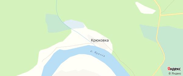 Карта деревни Крюковки в Архангельской области с улицами и номерами домов