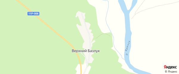 Карта деревни Верхнего Базлука в Архангельской области с улицами и номерами домов