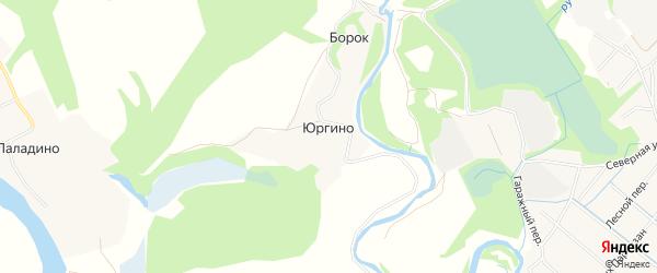 Карта деревни Юргино в Архангельской области с улицами и номерами домов