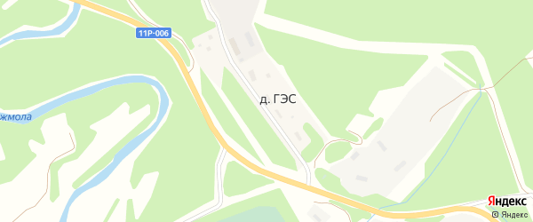 Улица Энергетиков на карте села Яренска с номерами домов
