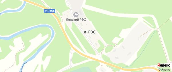 Улица Энергетиков на карте деревни ГЭС с номерами домов