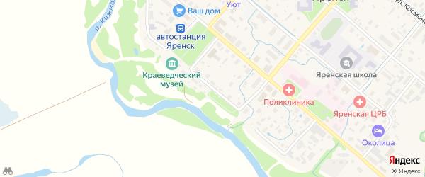 Улица Набережная Подбельского на карте села Яренска с номерами домов