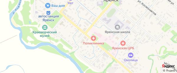 Улица Братьев Покровских на карте села Яренска с номерами домов