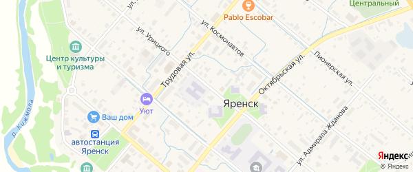 Улица Урицкого на карте села Яренска с номерами домов