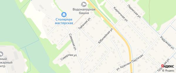 Переулок Степана Глотова на карте села Яренска с номерами домов