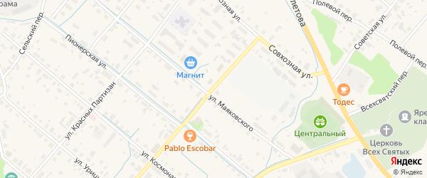 Трудовая улица на карте поселка Сойги с номерами домов