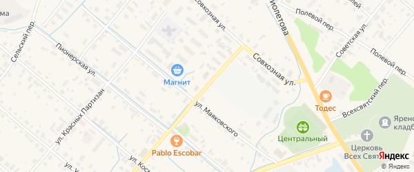 Трудовая улица на карте села Яренска с номерами домов