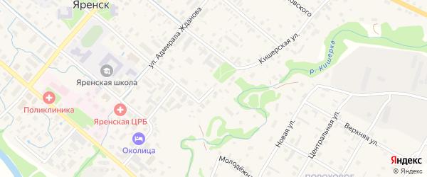 Кишерская улица на карте села Яренска с номерами домов