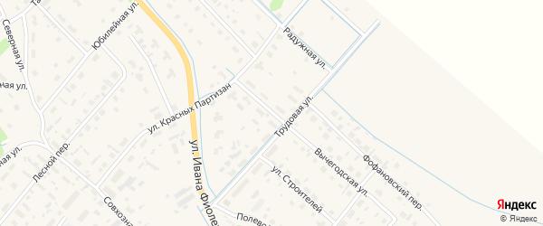 Вычегодская улица на карте села Яренска с номерами домов