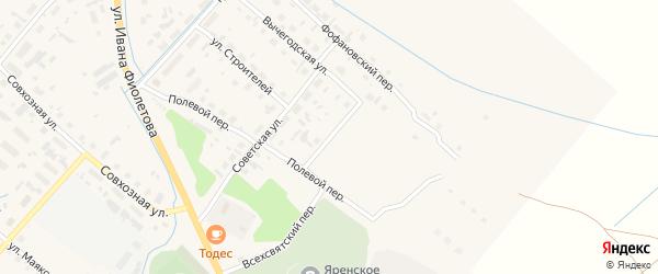 Улица Владимира Лукошникова на карте села Яренска с номерами домов