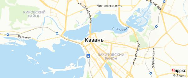 Карта Казани с районами, улицами и номерами домов
