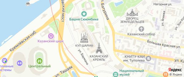 Территория б/о Займище РЖД на карте Казани с номерами домов