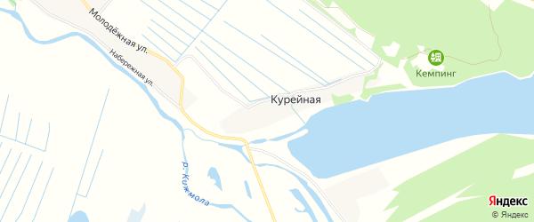 Карта Курейной деревни в Архангельской области с улицами и номерами домов