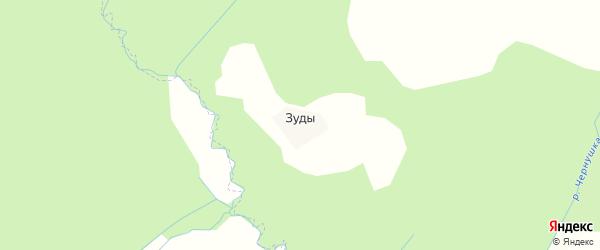 Карта деревни Зуды в Кировской области с улицами и номерами домов