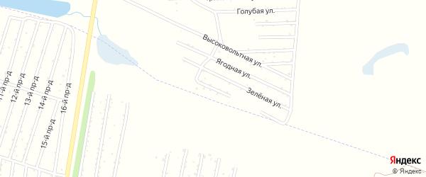 Цветочная улица на карте Озерного садового некоммерческого товарищества с номерами домов