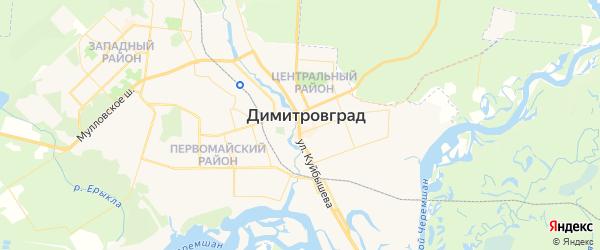 Карта Димитровграда с районами, улицами и номерами домов