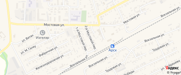 Татарстан 2-й переулок на карте Арска с номерами домов