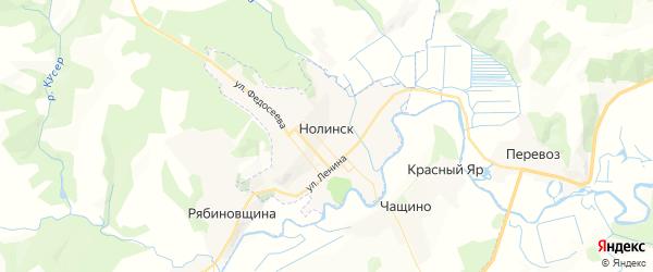 Карта Нолинска с районами, улицами и номерами домов