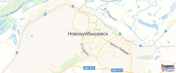 Карта Новокуйбышевска с районами, улицами и номерами домов