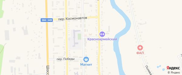Школьный переулок на карте Красноармейского села с номерами домов