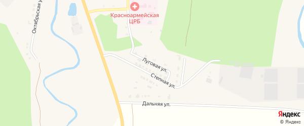 Луговая улица на карте Красноармейского села с номерами домов