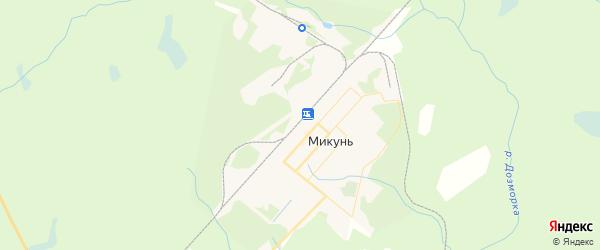 Карта Микуня с районами, улицами и номерами домов