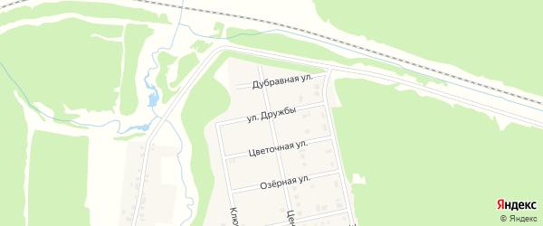 Улица Дружбы на карте садового некоммерческого товарищества Эры с номерами домов