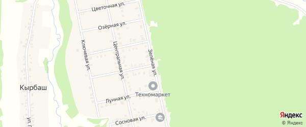 Зеленая улица на карте садового некоммерческого товарищества Птицевода с номерами домов