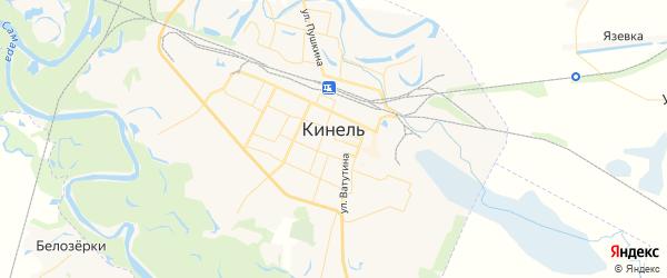 Карта Кинеля с районами, улицами и номерами домов