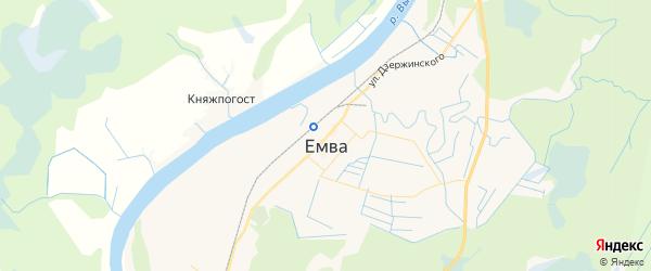 Карта Емвы с районами, улицами и номерами домов