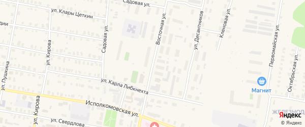 Восточная улица на карте Зуевки с номерами домов