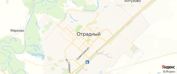 Карта Отрадного с районами, улицами и номерами домов