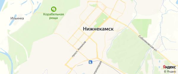Карта Нижнекамска с районами, улицами и номерами домов: Нижнекамск на карте России