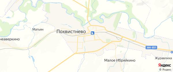 Карта Похвистнево с районами, улицами и номерами домов