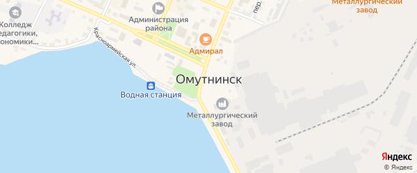 Территория гк Бисера2 на карте Омутнинска с номерами домов
