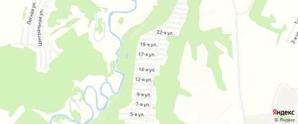 СНТ Полянка на карте деревни Базилевки с номерами домов