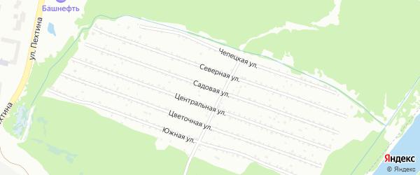 Садовая улица на карте садового некоммерческого товарищества Восхода с номерами домов