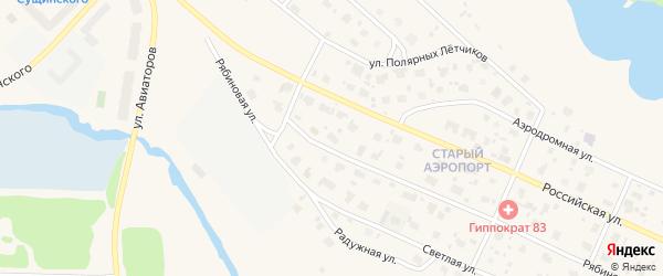 Рябиновая улица на карте садового некоммерческого товарищества Садоводы Севера сад N5 с номерами домов