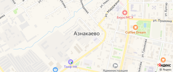 Улица Братьев Гринь на карте Азнакаево с номерами домов