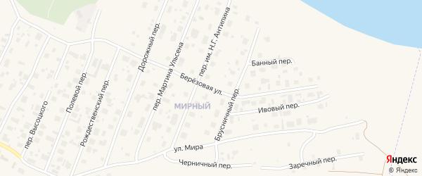 Березовая улица на карте Мирного с номерами домов