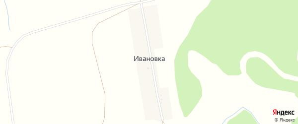 Улица Красных Партизан на карте деревни Ивановки с номерами домов
