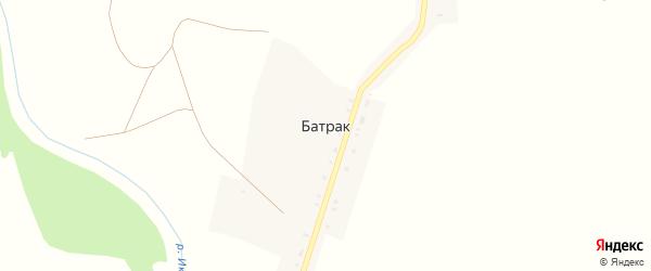 Береговая улица на карте села Батрака с номерами домов