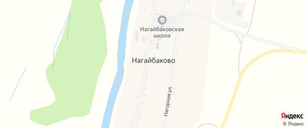 Речная улица на карте села Нагайбаково с номерами домов