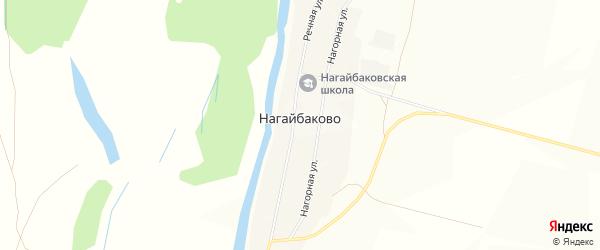 Карта села Нагайбаково в Башкортостане с улицами и номерами домов